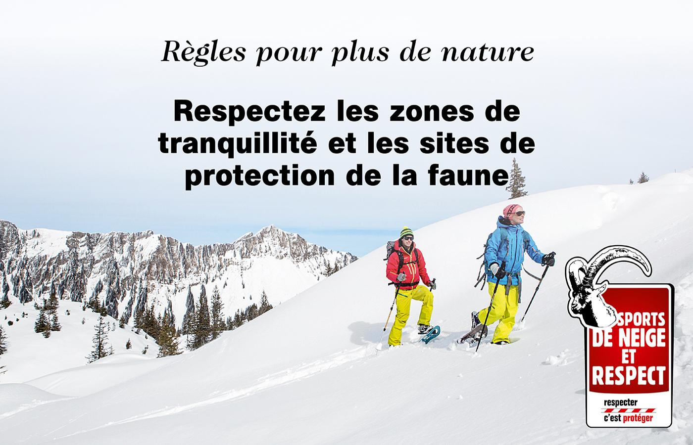 Sports de neige et respect - respecter c'est protéger